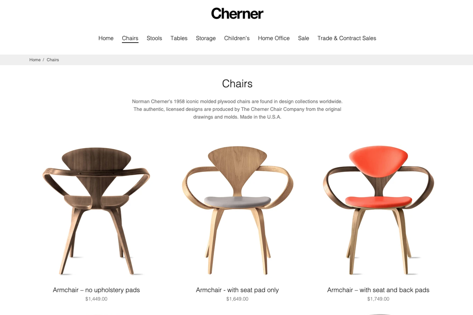 cherner chair website